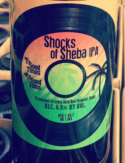 Shocks of Sheba Beer Label