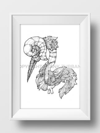 """Legless Bird"" Print"