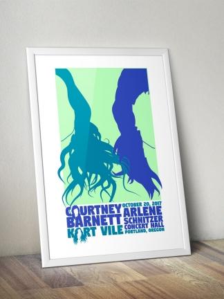 Courtney Barnett / Kurt Vile Gig Poster