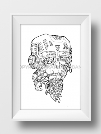 """Iron Man Mask"" Print"