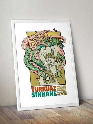 Turkuaz / Sinkane Gig Poster 2017