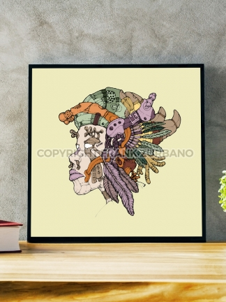 """Last of the Lakotas Mask"" Color Print"